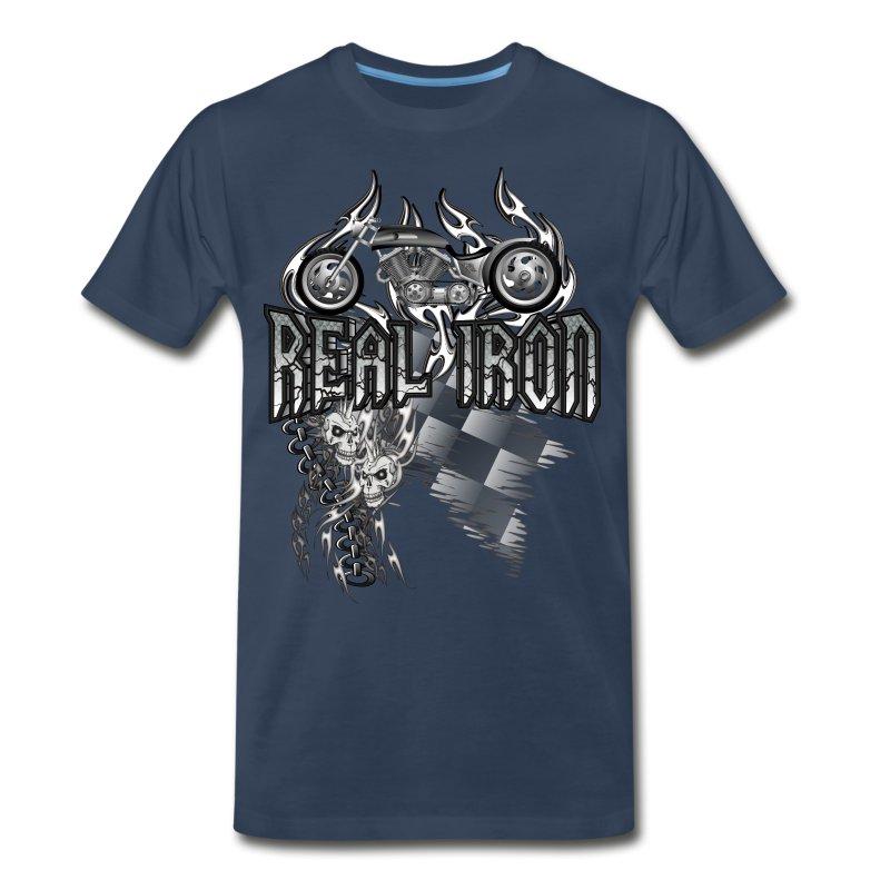 Real Iron Custom Motorcycle - Men's Premium T-Shirt