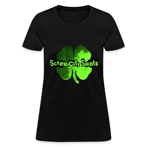 Toxic Green Four Leaf Women's Tee - Women's T-Shirt