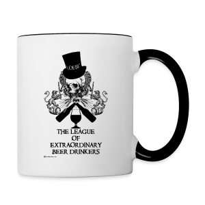 The League of Extraordinary Beer Drinkers Skull Top Hat Contrast Coffee Mug - Contrast Coffee Mug