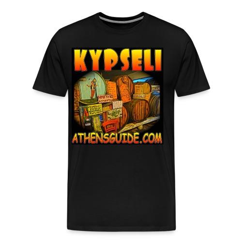Kypseli Kava Black (men) - Men's Premium T-Shirt