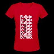 Women's T-Shirts ~ Women's V-Neck T-Shirt ~ Buffalo buffalo Buffalo buffalo buffalo buffalo Buffalo buffalo