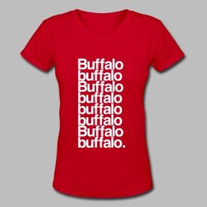 Buffalo buffalo Buffalo buffalo buffalo buffalo Buffalo buffalo - Women's V-Neck T-Shirt