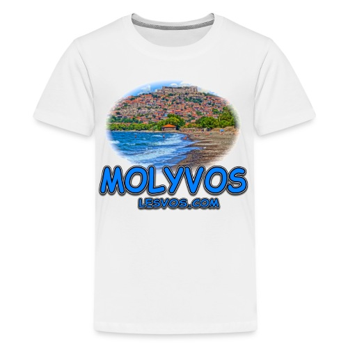 Lesvos Molyvos Blue (kids) - Kids' Premium T-Shirt