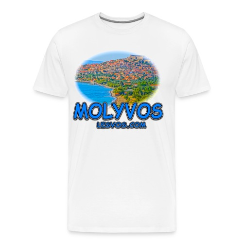 Lesvos Molyvos 2 Blue (men) - Men's Premium T-Shirt