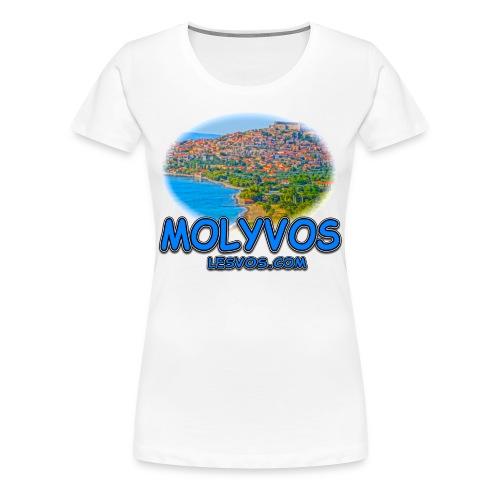Lesvos Molyvos 2 Blue (women) - Women's Premium T-Shirt