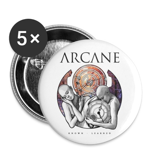 Arcane 'Learned' artwork buttons [pack of 5] - Small Buttons