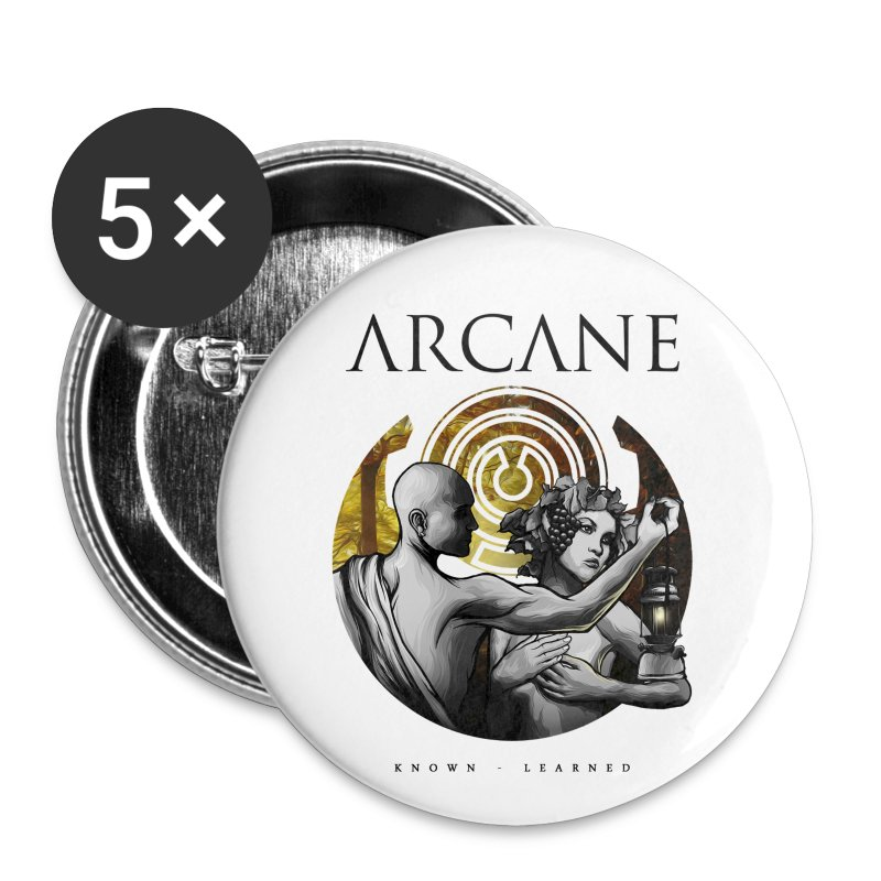Arcane 'Known' artwork buttons [pack of 5] - Small Buttons