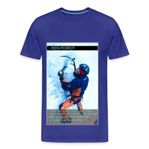 T-Shirt: Take Action Today, Before It Slips Away, Because Tomorrow Will Be Here Whether You Take Action or Not. Front Design  - Men's Premium T-Shirt