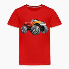 Blazing Hot Monster Truck Baby & Toddler Shirts