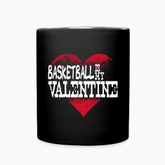Basketball Is My Valentine Mugs & Drinkware
