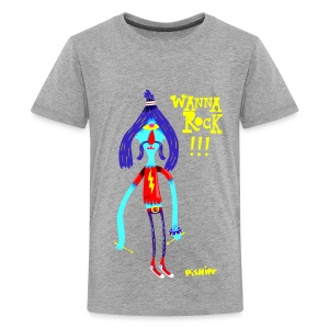 Kids' Premium T-Shirt - WANNA ROCK