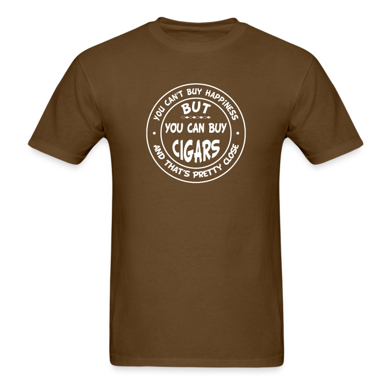 You can 39 t buy happiness but you can buy cigars t shirt for Where can i buy shirts