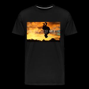 World of Flips Silhouette T- Shirt - Men's Premium T-Shirt