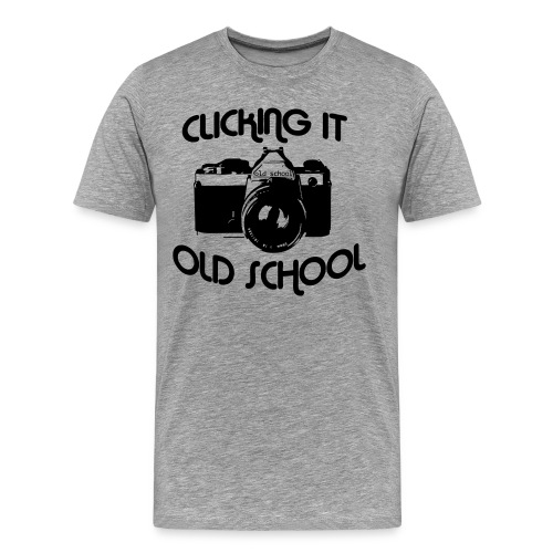 Clicking it old school - Men's Premium T-Shirt