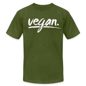 vegan - simply vegan ! - Men's T-Shirt by American Apparel
