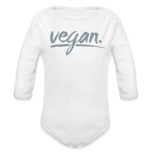 vegan - simply vegan ! - Long Sleeve Baby Bodysuit