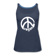 Tanks ~ Women's Premium Tank Top ~ VEGAN Peace ***