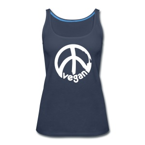 VEGAN Peace *** - Women's Premium Tank Top
