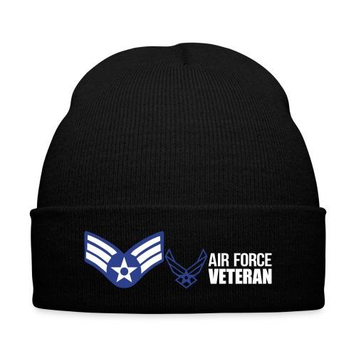 Airforce Senior Airmen/ Knit Cap - Knit Cap with Cuff Print