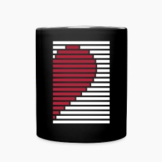 heart partner shirt right Mugs & Drinkware