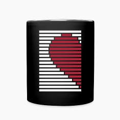 heart partner shirt left Mugs & Drinkware