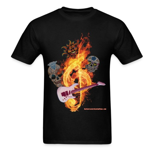 Guitar-FireClef - Men's T-Shirt