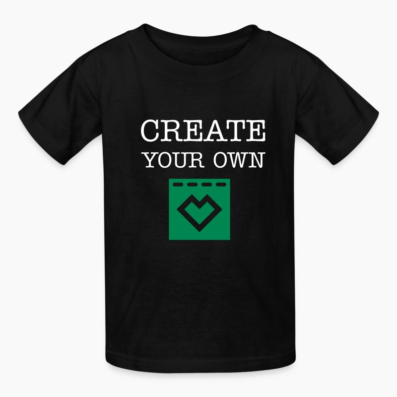 Spreadshirt logo t shirt spreadshirt for Make your own screen print shirt
