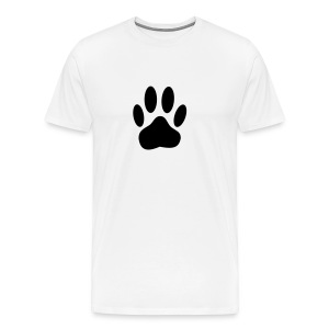 Black Dog Paw Print - Men's Premium T-Shirt
