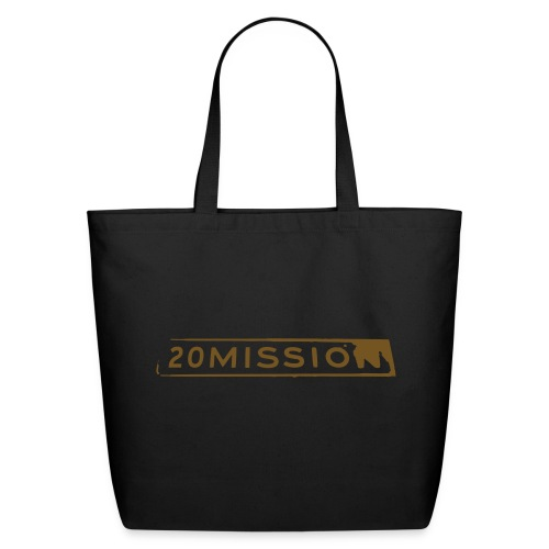 Tote bag - sparkly gold on black - Eco-Friendly Cotton Tote