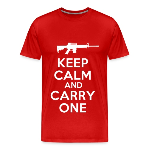 Keep Calm And Carry One - T-Shirt - Red - Men's Premium T-Shirt