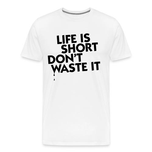 Lifes To Short Black Text (White) - Men's Premium T-Shirt