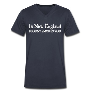 New England smoke - Men's V-Neck T-Shirt by Canvas