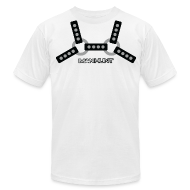 T-Shirts ~ Men's T-Shirt by American Apparel ~ Black Harness T