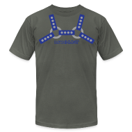 T-Shirts ~ Men's T-Shirt by American Apparel ~ Blue Harness T