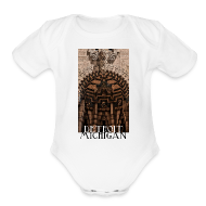 Baby Bodysuits ~ Baby Short Sleeve One Piece ~ Detroit Guardian