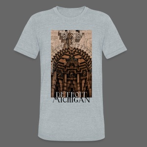 Detroit Guardian - Unisex Tri-Blend T-Shirt by American Apparel