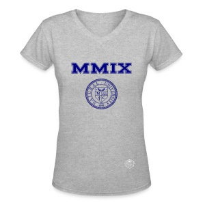 Natural University Collection Roman Numeral Tee-V Neck - Women's V-Neck T-Shirt