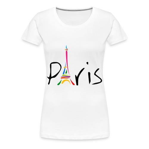 Women's Premium T-Shirt Paris with Eiffel Tower - Women's Premium T-Shirt