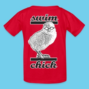 Swim Chick- Kid's Short Sleeve - Kids' T-Shirt