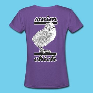 Swim Chick- Women's V-Neck - Women's V-Neck T-Shirt