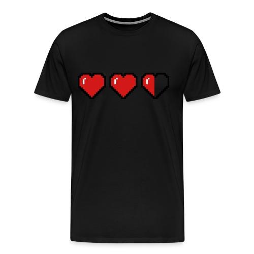 pixel heart shirt  - Men's Premium T-Shirt