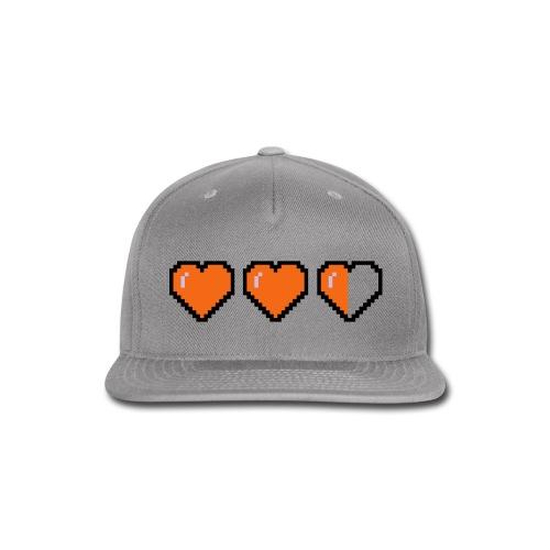 pixel heart hat  - Snap-back Baseball Cap