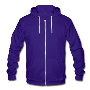 Unisex Zip Up Hooded Sweater by American Apparel - Unisex Fleece Zip Hoodie by American Apparel