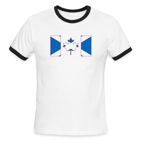 Scottish Canadian Flag on Tshirt - Men's Ringer T-Shirt