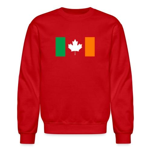 Irish Canadian Flag on Long Sleeve - Crewneck Sweatshirt