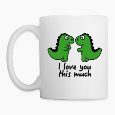 I love you this much Mugs & Drinkware