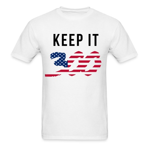 KEEP IT 300(T-SHIRT) WHITE - Men's T-Shirt