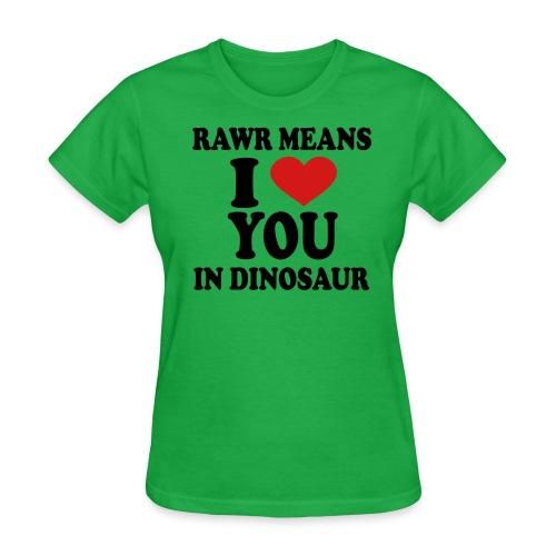 Rawr  - Women's T-Shirt