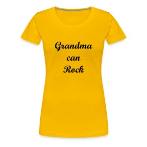 Grandma can Rock - Women's Premium T-Shirt