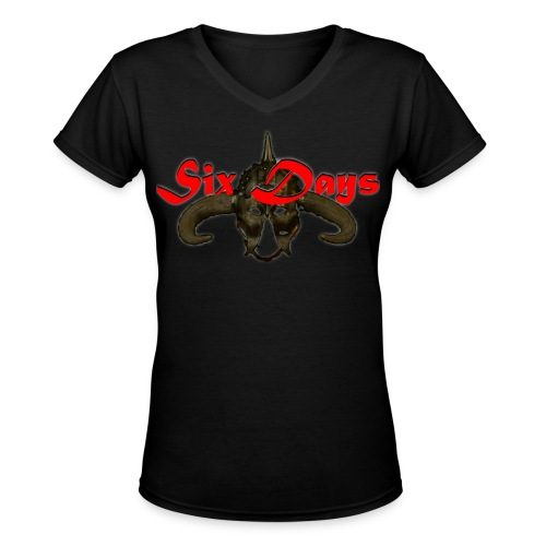 Transparent background - use with any color - Women's V-Neck T-Shirt